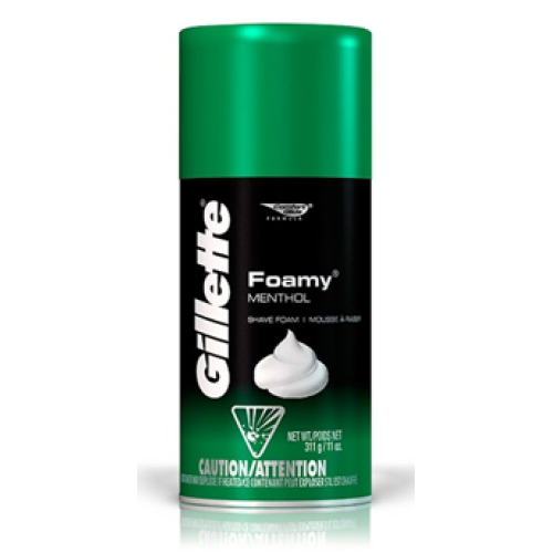 Gillette Shaving Foamy Menthol-175gm