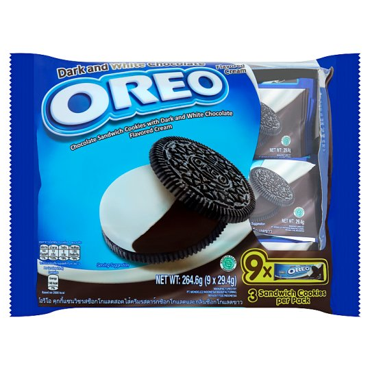 Oreo Sandwich Cookies Dark & White Chocolate Cream-29.4gm (1x9x12Packs)