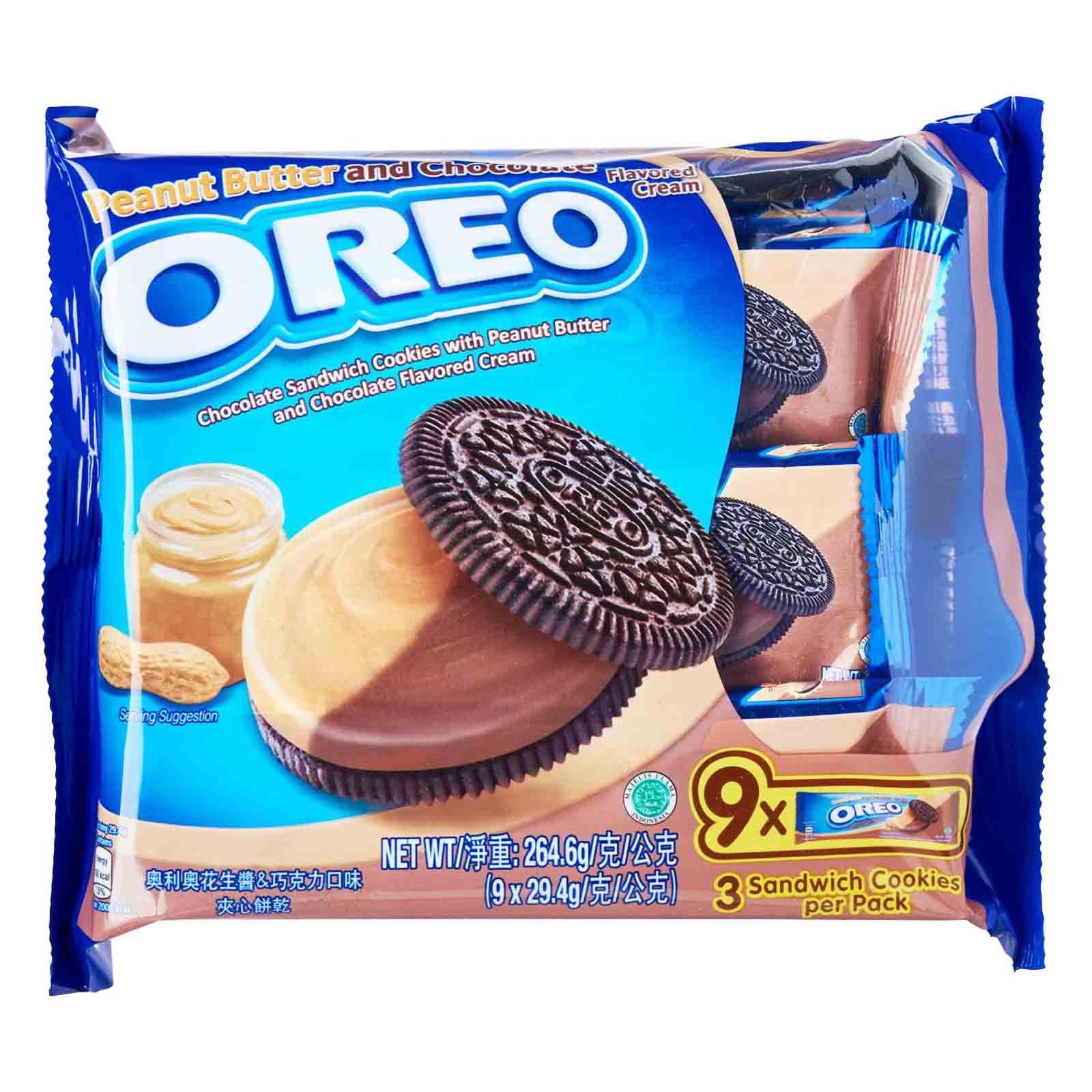 Oreo Sandwich Cookies Peanut Butter & Chocolate Cream -29.4gm (1x9x12Packs)